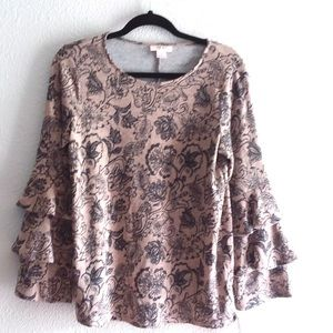Style & Co. scattered roses women's blouse size- S